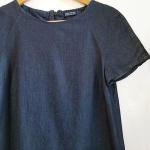 Zara basic denim blue dress xs